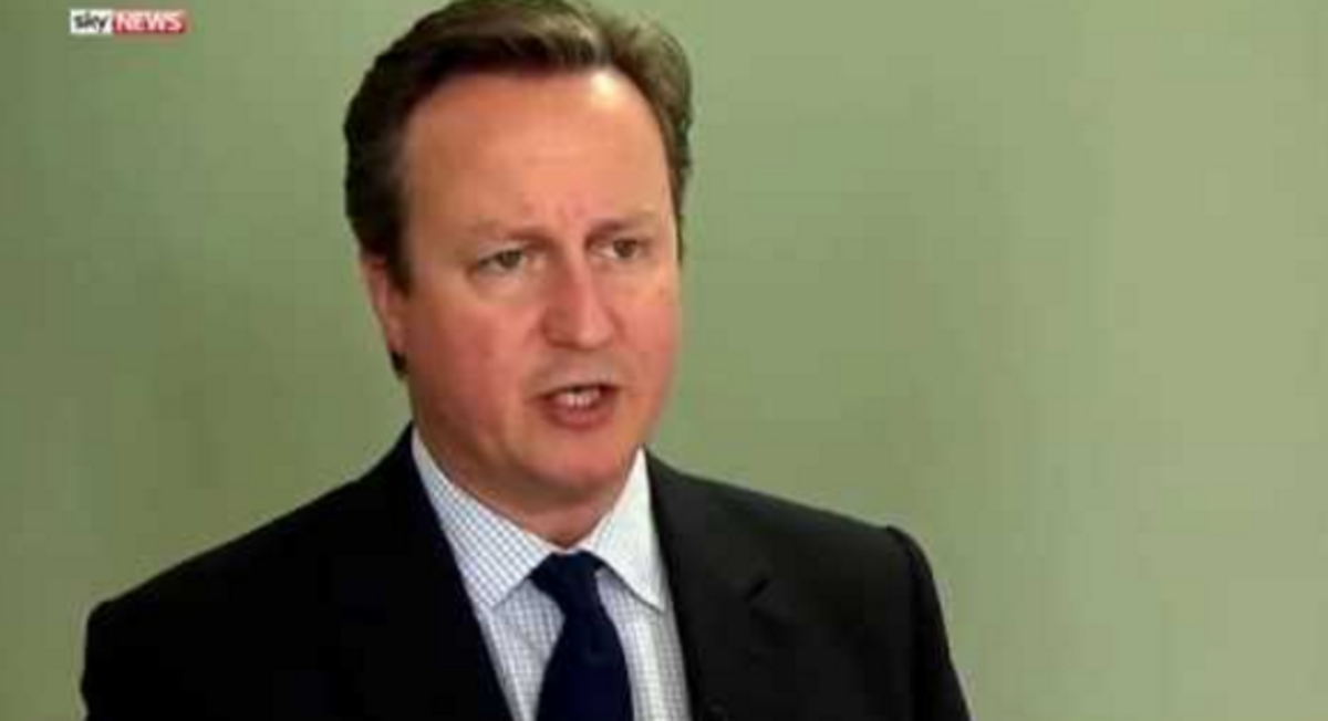 Prime Minister David Cameron reacts to the murder of Jo Cox