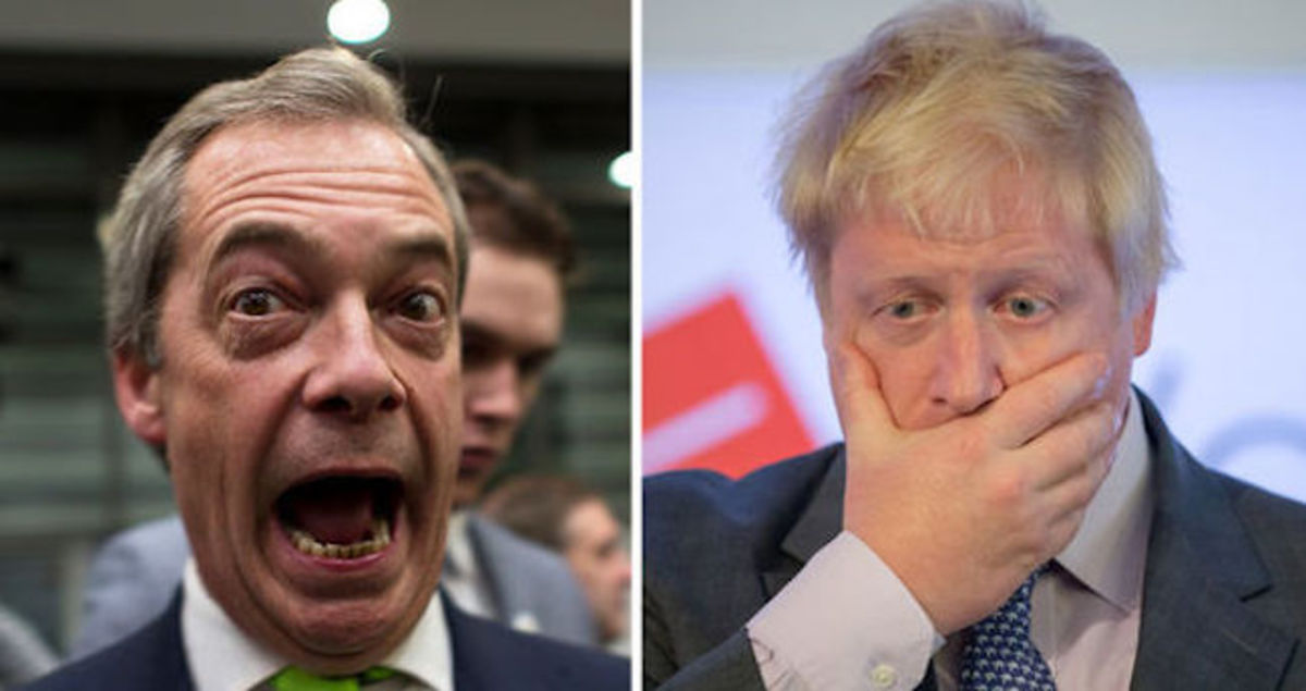 Nigel Farage and Boris Johnson: Quitters