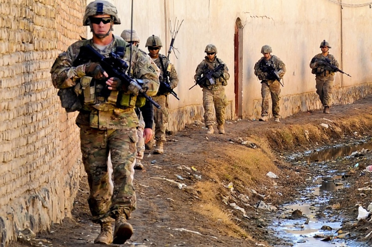 U.S. troops in Kandahar, Afghanistan