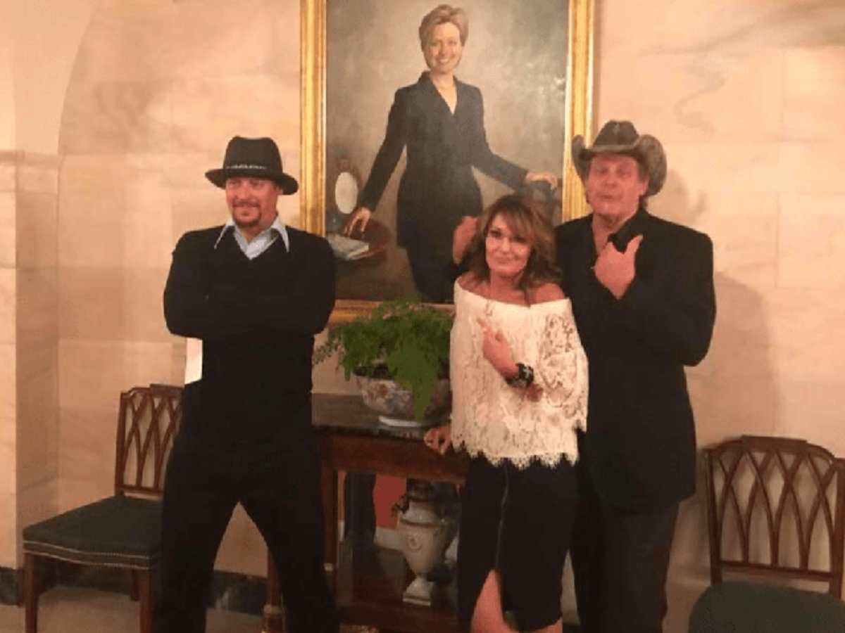Kid Rock Sarah Palin Ted Nugent White House Hillary Clinton