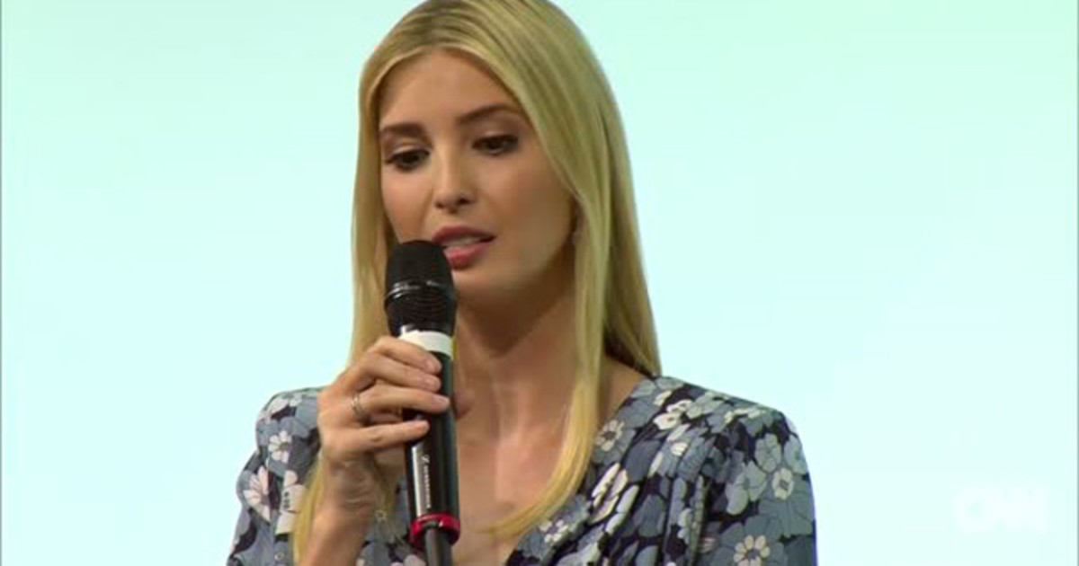 ivanka trump microphone germany