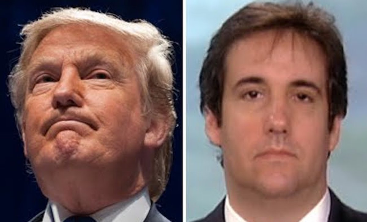 Trump and his lawyer Michael Cohen