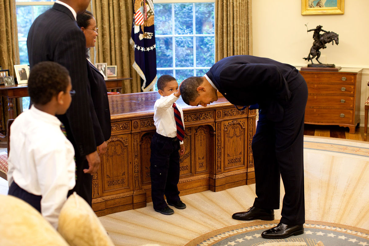 "Jacob Philadelphia of Columbia, Md. asks to feel the President's hair. I want to know if my hair is just like yours,"" he asked Mr. Obama,"