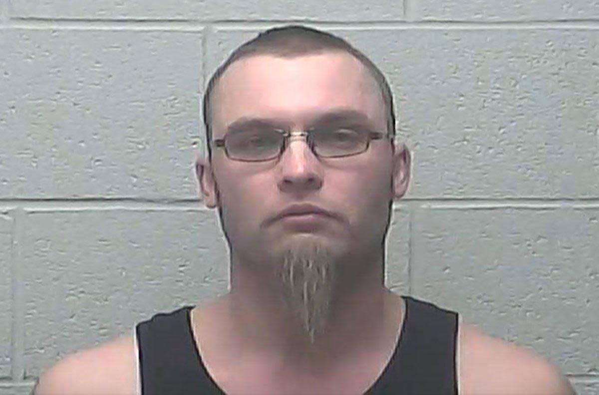 Jesse D. McLain, 33, was charged with two counts of terrorizing after he allegedly was part of a confrontation in which two masked men harassed protestors of the Dakota Access pipeline outside a Ramada Inn Monday in Bismarck, North Dakota. (BISMARCK POLICE DEPARTMENT)