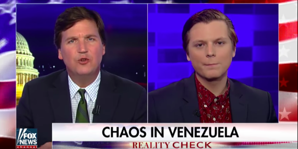The typical Tucker Carlson guest -- under the age of 21 with little experience on live television.