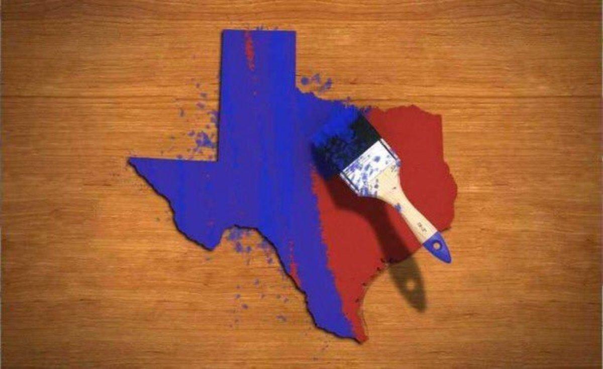 texas turns blue