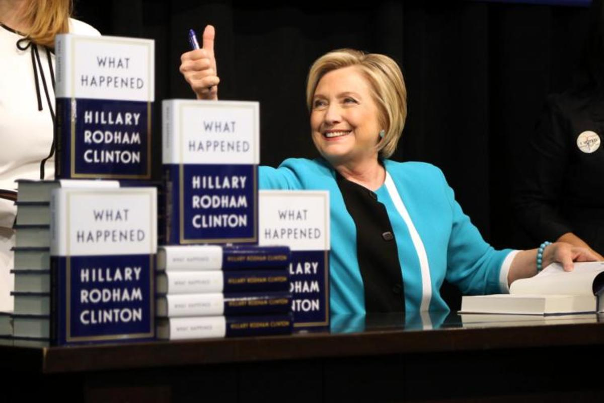 Image result for Hillary Clinton, book tour, photos