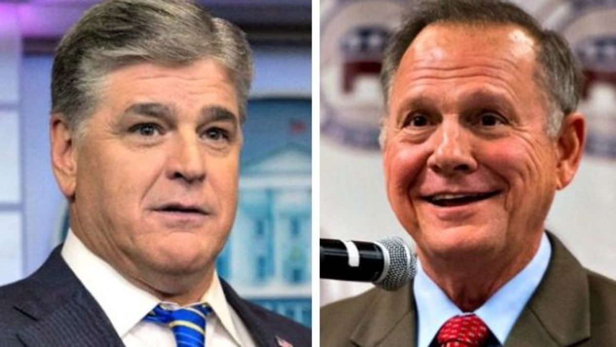 Sean Hannity and Roy Moore
