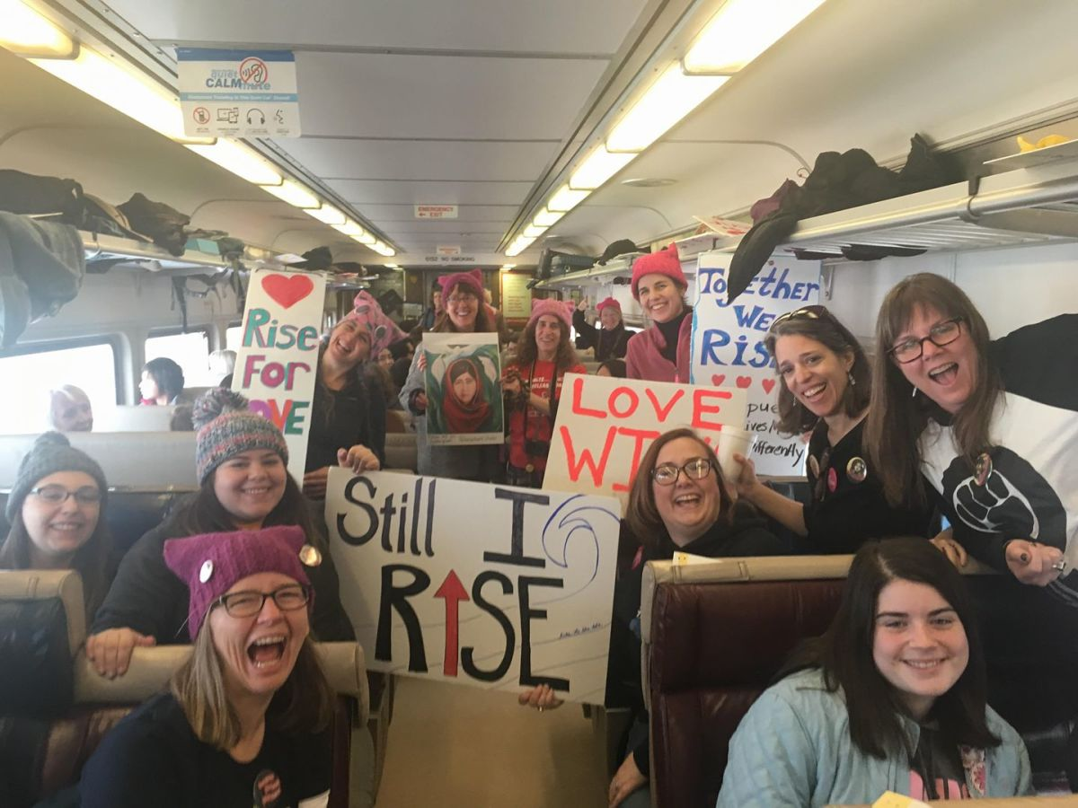 "The ""Peace Train"" to NYC Women's March"