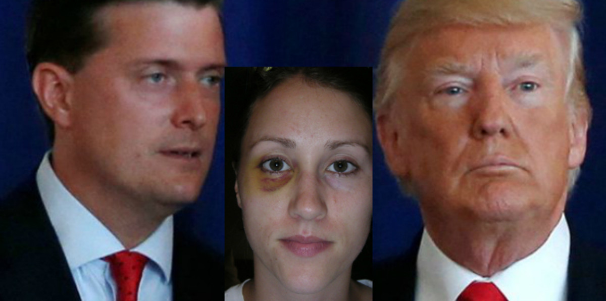 Rob Porter, Colbie Holderness and Donald Trump