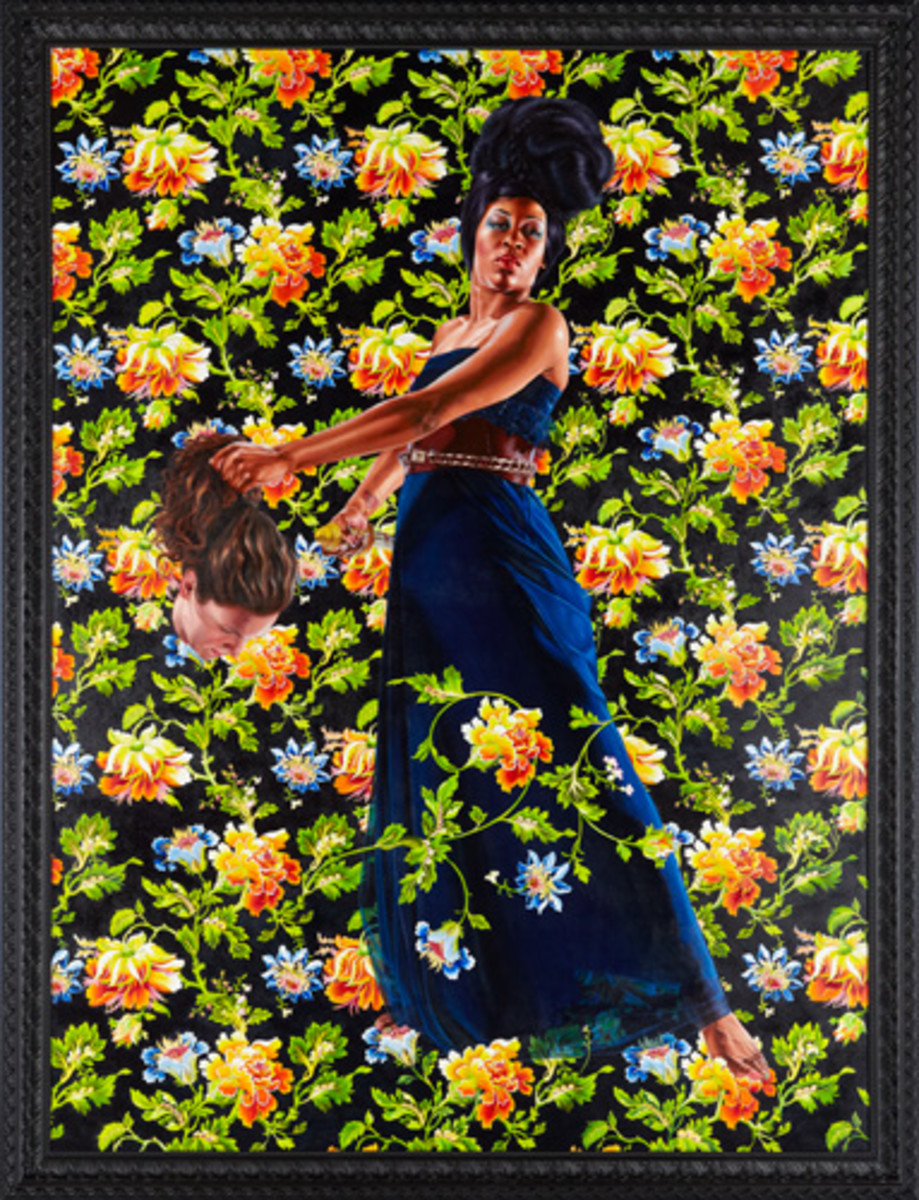 "Judith and Holofernes, 2012 Oil on linen 120"" x 90"""