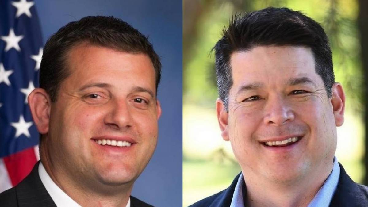 David Valadao, left, TJ Cox, right, photograph courtesy of the Fresno Bee