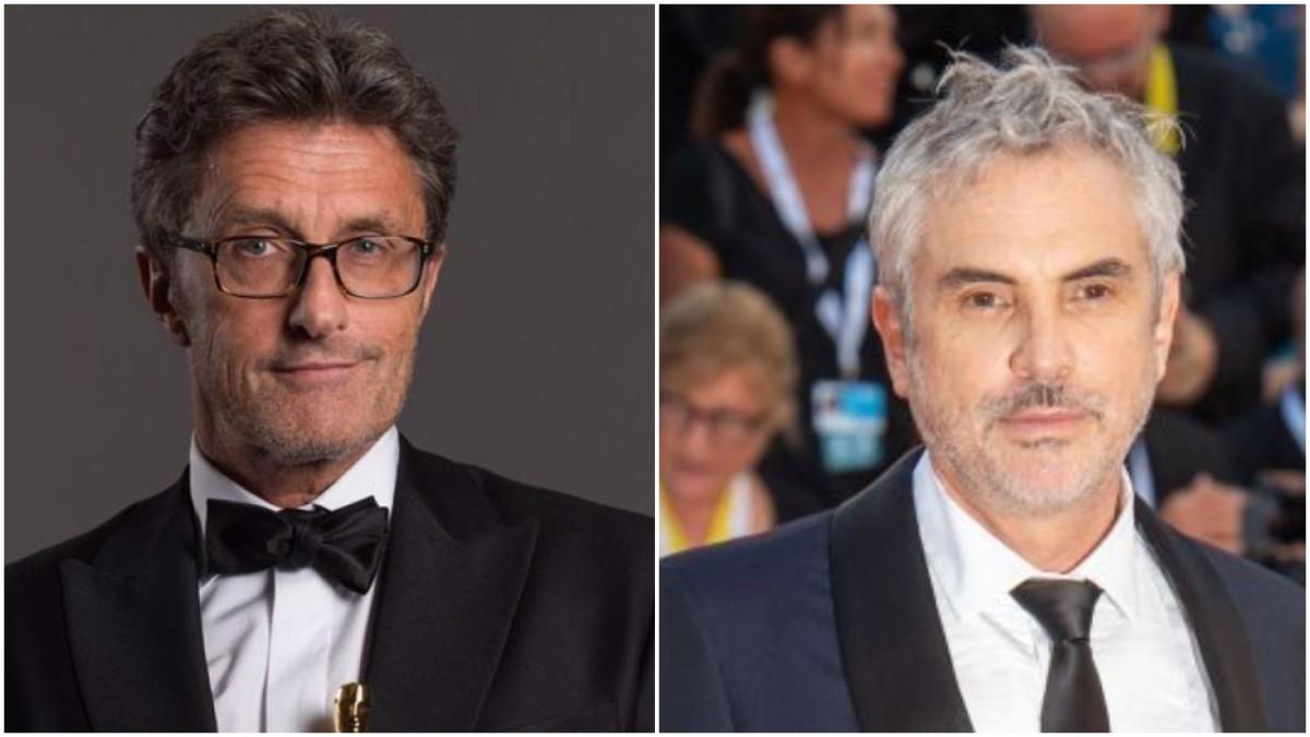 Paweł Pawlikowski, left, Alfonso Cuarón, right